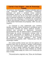 carnaval e sua origem -  irlan de alvarenga cidade.doc