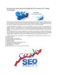 SEO services of SE Media Technologies.pdf