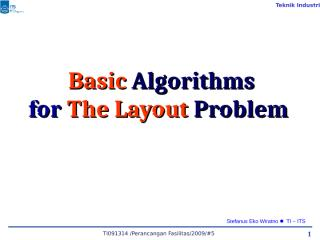 07 PF#07 Algorithm for Layout Problem.ppt