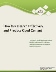 How to Research Effectively and Produce Good Content.pdf