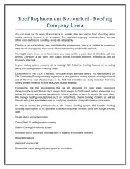 Roof Replacement Bettendorf - Roofing Company Lowa.doc
