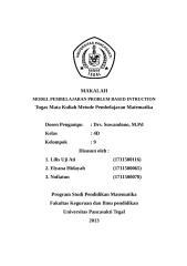 MODEL PEMBELAJARAN PROBLEM BASED INTRODUCTION.doc