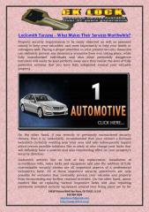 Locksmith Tarzana What Makes Their Services Worthwhile.pdf